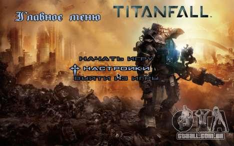 Arranque telas e menus Titanfall para GTA San Andreas por diante tela
