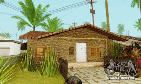Novas texturas da casa de Denis para GTA San Andreas quinto tela