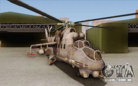 Mi-24D Hind from Modern Warfare 2 para GTA San Andreas esquerda vista