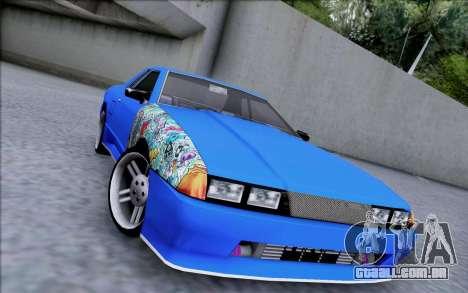 Elegy By Dr1ad para GTA San Andreas traseira esquerda vista
