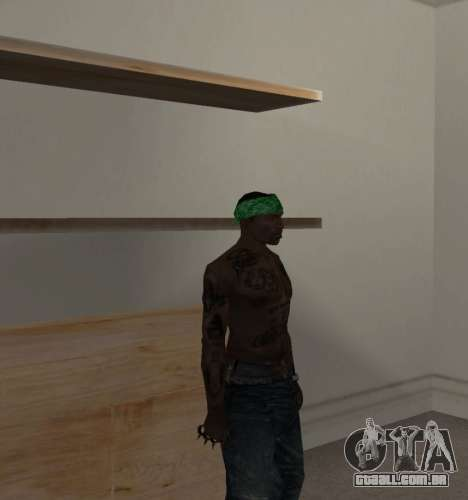 Novas bandanas, por CJ para GTA San Andreas terceira tela