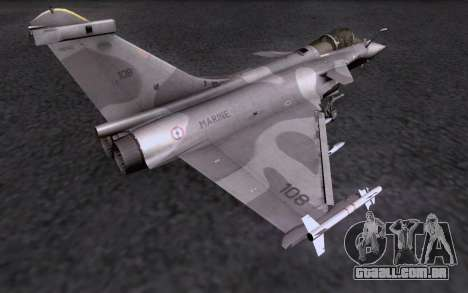 Dassault Rafale M para GTA San Andreas vista superior