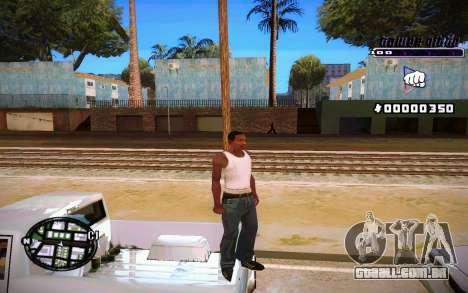 C-HUD Tawer Gitto para GTA San Andreas por diante tela