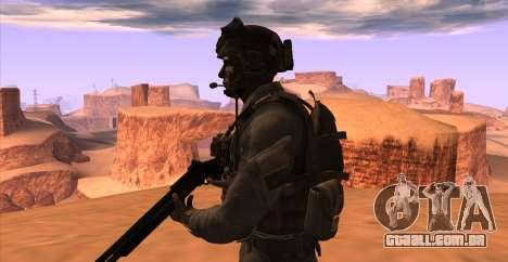 Tenente David Hesh Walker из Call Of Duty: Ghost para GTA San Andreas sexta tela