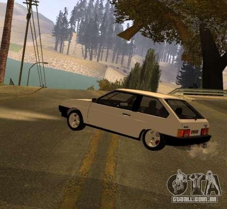 ВАЗ 2108 GVR Versão 2.0 para GTA San Andreas esquerda vista