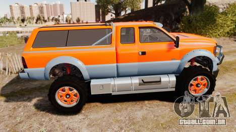 GTA V Vapid Sandking XL wheels v2 para GTA 4 esquerda vista