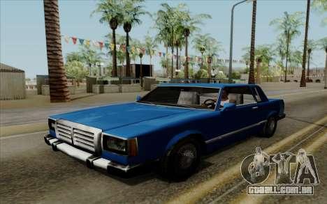 Feltzer hard top para GTA San Andreas vista direita