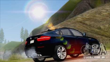BMW X6M E71 2013 300M Wheels para GTA San Andreas vista traseira