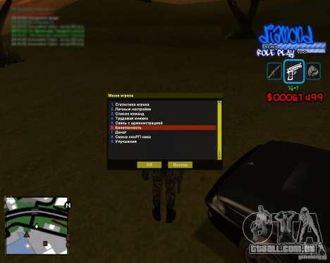 C-Hud Diamond RP para GTA San Andreas segunda tela