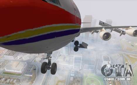 Airbus A340-300 China Eastern para GTA San Andreas vista traseira