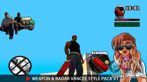 Arma & Radar VanCee Estilo Pack v1 para GTA San Andreas décimo tela
