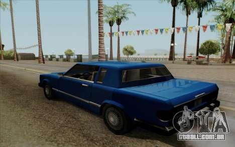 Feltzer hard top para GTA San Andreas traseira esquerda vista