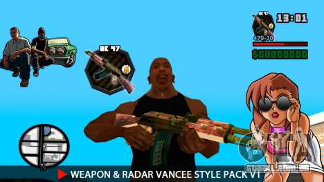 Arma & Radar VanCee Estilo Pack v1 para GTA San Andreas sétima tela