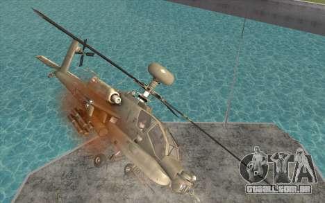 AH-64D Longbow Apache para GTA San Andreas