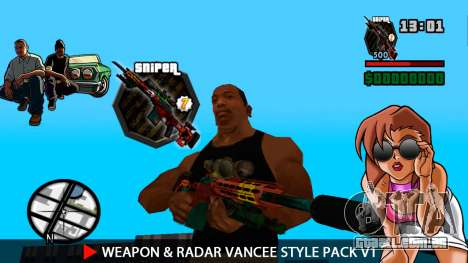 Arma & Radar VanCee Estilo Pack v1 para GTA San Andreas oitavo tela