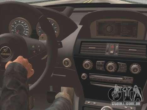 BMW M6 Hamann para GTA San Andreas vista interior