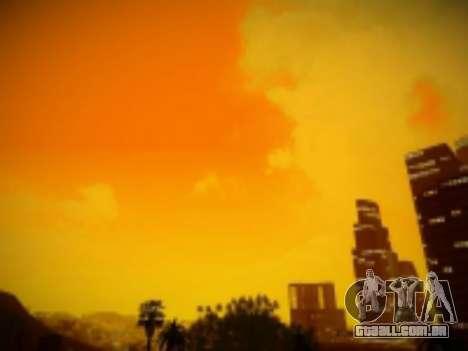 SkyBox Arrange - Real Clouds and Stars para GTA San Andreas por diante tela