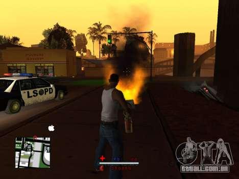 C-HUD by SaMoGoN para GTA San Andreas segunda tela