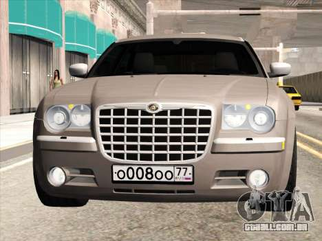 Chrysler 300C 2009 para GTA San Andreas traseira esquerda vista