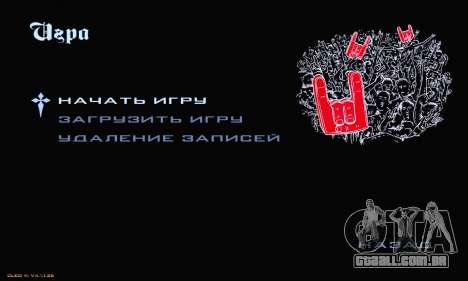 Heavy Metal Menu V.1 para GTA San Andreas terceira tela