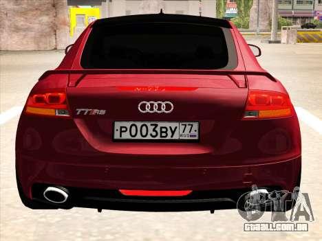 Audi TT RS 2010 para GTA San Andreas traseira esquerda vista