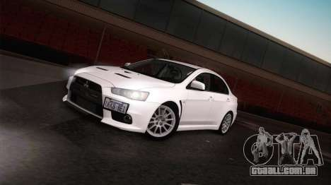 Mitsubishi Lancer Evolution para GTA San Andreas vista direita