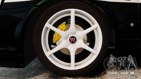 Nissan Skyline GT-R R34 Saitama Police para GTA 4 vista de volta
