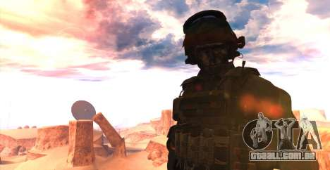 Tenente David Hesh Walker из Call Of Duty: Ghost para GTA San Andreas segunda tela