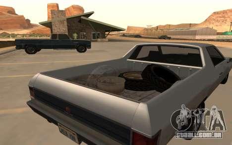 Picador GTA 5 para GTA San Andreas traseira esquerda vista