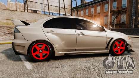 Mitsubishi Lancer Evolution X FQ400 para GTA 4 esquerda vista