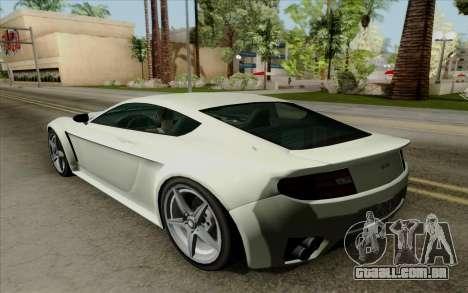 Rapid GT para GTA San Andreas vista traseira
