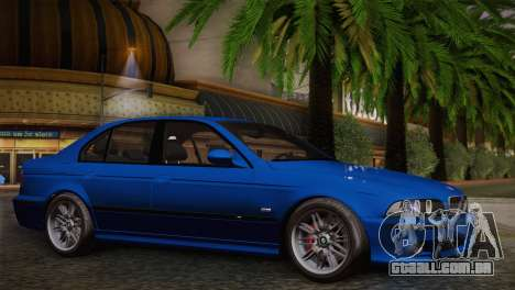 BMW E39 M5 2003 para GTA San Andreas vista traseira