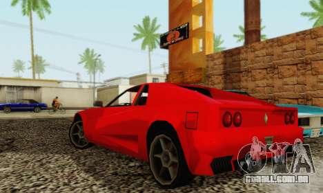 New Cheetah v1.0 para GTA San Andreas vista traseira