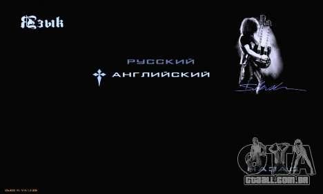 Heavy Metal Menu V.1 para GTA San Andreas oitavo tela