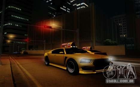 Buffalo Taxi para GTA San Andreas vista traseira