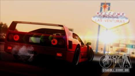 Ferrari F40 1987 para GTA San Andreas vista direita