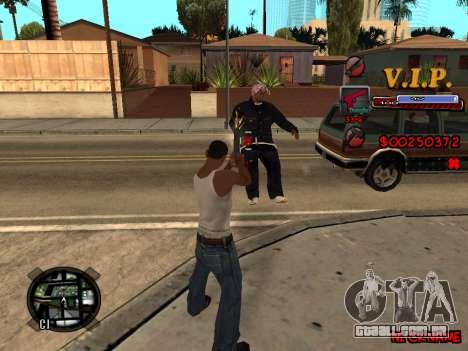 C-HUD VIP para GTA San Andreas segunda tela