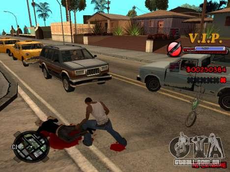 C-HUD VIP para GTA San Andreas terceira tela