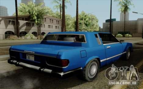 Feltzer hard top para GTA San Andreas esquerda vista