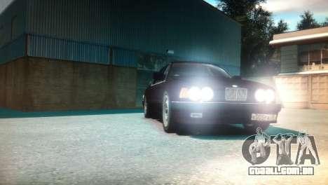 BMW 735iL E32 ver 2 para GTA 4 vista de volta