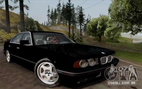 BMW 540i (E34) para GTA San Andreas esquerda vista