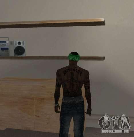 Novas bandanas, por CJ para GTA San Andreas sexta tela