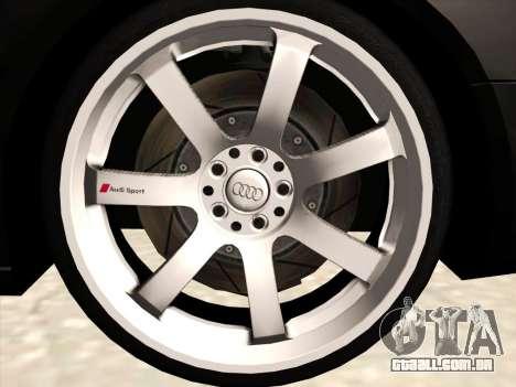 Audi S4 para vista lateral GTA San Andreas