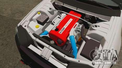 Nissan Skyline GT-R R34 Saitama Police para GTA 4 vista interior