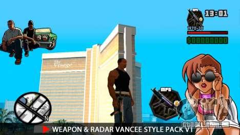 Arma & Radar VanCee Estilo Pack v1 para GTA San Andreas sexta tela
