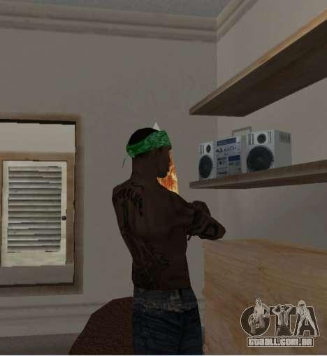 Novas bandanas, por CJ para GTA San Andreas por diante tela