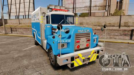 Mack R Bronx 1993 NYPD Emergency Service [ELS] para GTA 4