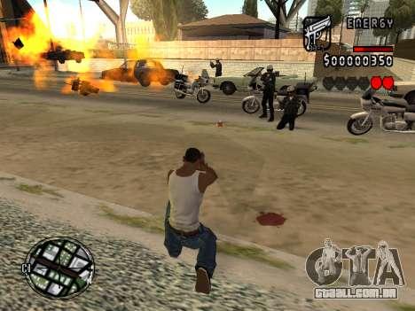 C-HUD Energy para GTA San Andreas por diante tela