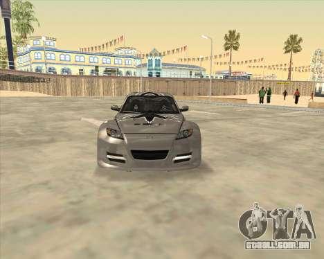 Mazda RX 8 из NFS Most Wanted para GTA San Andreas vista direita