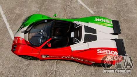 Pagani Zonda C12 S Roadster 2001 PJ6 para GTA 4 vista direita